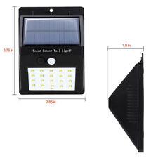 HOT 20 LED Solar Power PIR Motion Sensor Wall Light Outdoor Yard Waterproof Lamp