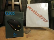 NEW Logitech G203 LIGHTSYNC Optical Gaming Mouse - Black, RGB, Wired (910005790)