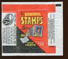 1969 Topps Baseball Stamps 5 Cent Wax Wrapper