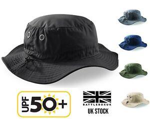 UPF 50+ Sun Hat Bucket Cargo Safari Bush Boonie Summer Fishing Hat Mens Woman's