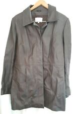 JFW Woman Brown Leather Jacket Size UK 14 - Good Condition