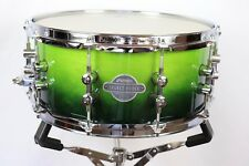"Sonor Select Force 14"" x 6.5"" Maple Shell Green Fade High Gloss Snare New"