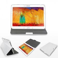 Hülle für Samsung Galaxy Note 10.1 2014 Edition Tasche Case Etui Kunstleder weiß