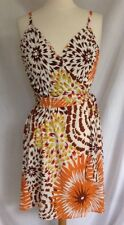 Merona Floral Print Sundress Orange, Yellow Brown & White Size XS