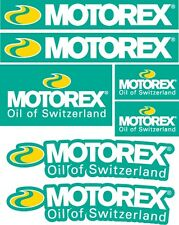 7x MOTOREX Sponsor stickers decals graphics vinyl sticker sheet KTM HONDA