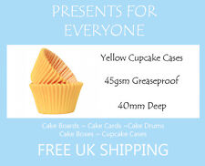 100 x Yellow Cupcake / Muffin Cases