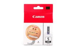 Canon genuine PGI-5BK black ink cartridge.