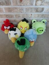 Angry Birds Plush Lot 6 Red Bird Yellow Bird White Bird Blue Bird Green Bird Pig