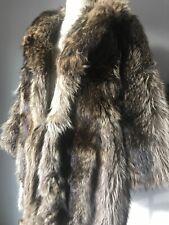 Genuine Brown Racoon Small Fur Coat Jacket Designer Javurek Furs $2000