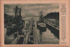 WWI 1917 MEN OF OUR FIGHTING MACHINE - BATTLESHIPS PASSING THRU PANAMA CANAL