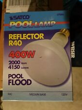 Satco S7006 - 400 watt BR40 Incandescent Bulb, Frost, Medium Base