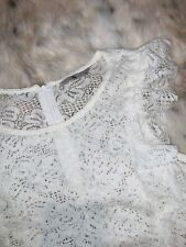 Top Blouse Lovely White Lace TU Size 10