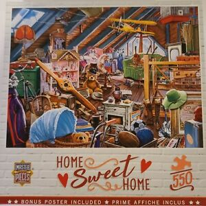 Master Pieces - 550 pcs Jigsaw Puzzle - Home Sweet Home - ATTIC SECRETS - EUC
