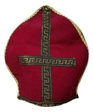 Seconds Catholic Church Velvet Bishop Hat Mitre Clergy Costume Accessory Adult