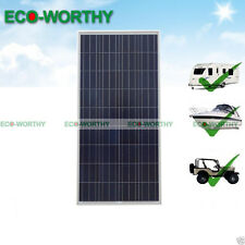 160W 12V Solar Panel off Grid for Camping Boat Caravan Rv Battery Charge