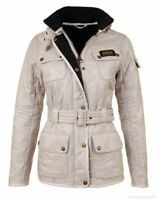 Barbour International Polarquilt Jacket Beige Pearl Women's Jacket Quilt 8 4 34