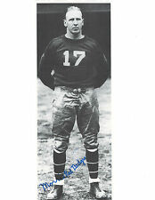 Morris Red Badgro Signed Photo / Autographed Football HOF