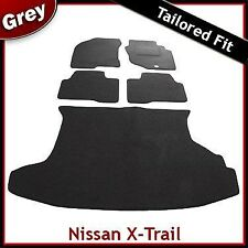 Nissan X-Trail Mk1 2001 - 2007 Fully Tailored Fitted Carpet Car & Boot Mats GREY