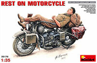 MiniArt Rest on Motorcycle Rast Pause auf Motorrad 1:35 Bausatz Kit 35176