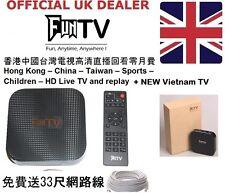 FunTV HK TVB Vietnam China Taiwán 亞芬電視盒 TVPAD Diversión TV Box 中港台電視 inauguración + Cable Gratis