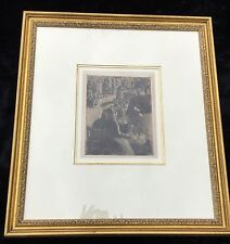 """Pissarro (1830 - 1903) """"Marche aux Legumes..."""" original etching and aquatint"""