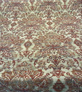 Swavelle Damask Trussard Berry Chenille Upholstery Fabric By The Yard
