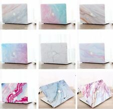Marble Hard Shell Case Cover & Keyboard Skin Cover For Apple Mac Book Air Pro CS