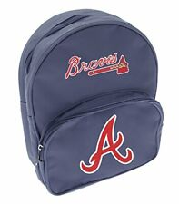 Atlanta Braves Baseball MLB Kids Boys Girls School Mini Backpack, Navy