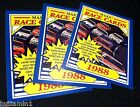 1988 Maxx Racing Charlotte LOT of ( 3 ) HEADER Cards #1 Great Condition NASCAR