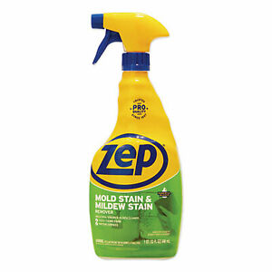 Zep Mold Stain and Mildew Stain Remover, 32 oz Spray Bottle, 12/Carton