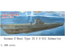1:200 Scale German U-boat Type IX C U-511 Submarine DIY Military Model Kit