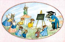"""Medici Society Postcard,PK 427,""""Schoolmaster Mole"""",Molly Brett"""