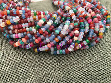 "Faceted 2x4mm Mix color jade Roundel Gemstone Loose Beads 15"" AAA"