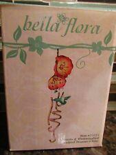 New Bella Flora Hummingbird Hibiscus Indoor/Outdoor Garden Wind Chime 25055