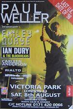 "40x60"" Huge Subway Poster~Paul Weller 1998 Finley Quaye Ian Dury Jam Park London"