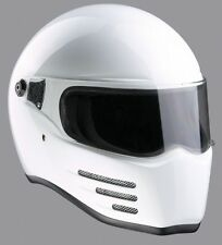 BANDIT FIGHTER FUTURE STIG STYLE MOTORCYCLE BIKER EXCEPTION WHITE HELMET L SIZE