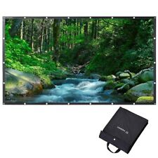 """Instahibit® 120"""" 16:9 Portable Front Projection Screen Foldable Pvc 4K Hd Home"""