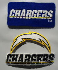SAN  DIEGO  CHARGERS   2  PATCHES    EMBROIDERED   NOW   L  A   CHARGERS