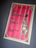 1978 livre LES HISTOIRES DE CIRQUE de LEWIS JAMES PINDER Jacques Garnier circus