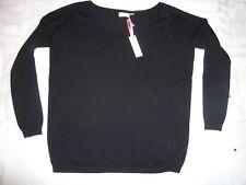 Gharani Stork Mujer Puente/Negro/Talla M/Mezcla de lana y cashmere
