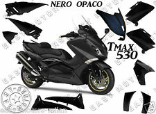 KIT CARENE SCOCCHE PLASTCHE YAMAHA TMAX T-MAX 530 2012 2014 NERO OPACO 11 PEZZI