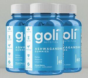 Ashwagandha Gummies by Goli Nutrition, 3 x 60 gummies