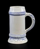 9959510 Porzellan Bierkrug weiß blau Ens 1l H21cm