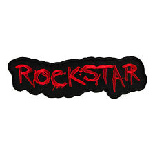 Rockstar Red Cut Out Embroidered Patch, Sayings Patches