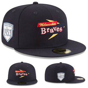 New Era Milwaukee Braves Fitted Hat Cooperstown Classic 1953 Inaugural Series