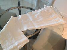 New White Italian Linen Dress or casual Pant, 38 Waist Roped Waistband, $45.00