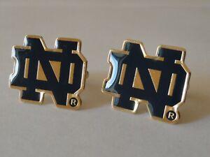 Notre Dame ND Cufflinks--Fighting Irish College University Football Catholic