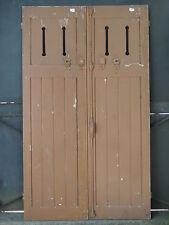 166,5 X 98,5 cm (1A) - Ancienne paire de volets ajourés, en chêne,