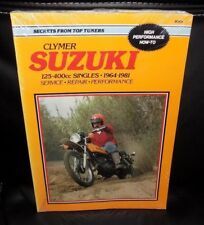 CLYMER SUZUKI 125-400CC SINGLES 1964-1981 MOTORCYCLE SERVICE & REPAIR MANUAL
