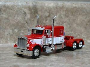 DCP 1/64 Red White Peterbilt Semi Truck Farm Toy